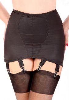 Classic Girdle Black 6 Suspenders